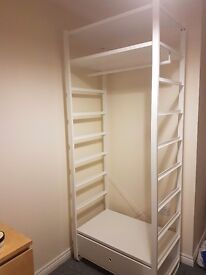 Open wardrobe. Easy to disassemble