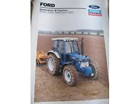 FORD NEW HOLLAND PRODUCT RANGE. (Part 2) £300 + P& P.