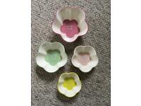 Ramekin Measuring cup set of four flower shape