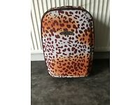 Small leopard print frenzy suitcase