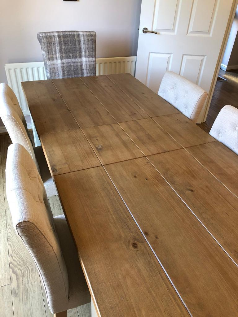 New Next Kendall Painted Extending Dining Table 6 8 Seater