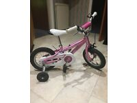 Pink Children's Hotrock Bike with Stabilisers (Excellent Condition)