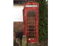 Original British telephone box