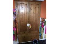 Antique pine solid wood wardrove