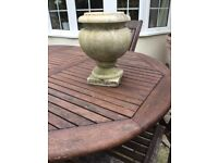 Solid marble stone urn/planter