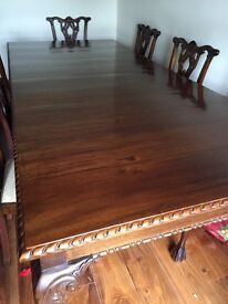 Mahogany Dining table & 8 chairs