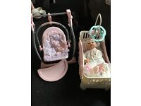 Baby Annabelle, Cot and Swing/Highchair