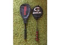 Wilson Victory squash racquet & Gola Swift badminton racquet