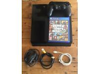 PS4 Console Bundle - GTA 5, Controller, Charging Cable & Internet Cable