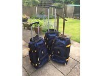 Three TIMBERLAND wheeled suitcases -travel bags VGC