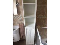 Tall boy storage cabinet unit