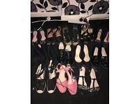 12 pair of women's shoes size 4 n 5