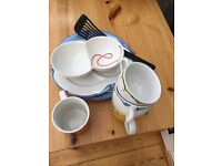 Selection of crockery and miscellaneous kitchen items