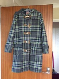 Boden Checked duffle coat
