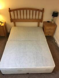 **SOLD**Myer's Double Divan base and headboard