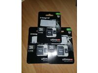 3 unopened micro sd cards £10