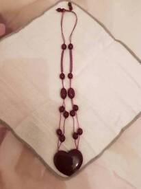 Lola Rose heart pendant necklace