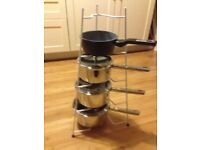 Pan / plate stand, sturdy 4 tier VGC.
