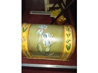 Hand painted storage chest