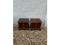 Pair of stag Minstrel 2 drawer bedside chests * free furniture delivery *