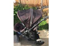 Black Britax B Smart buggy pushchair