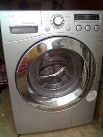 silver LG washer like new but just stopped working SPARES OR REPAIRS