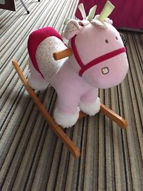 Mama's and Papa's girls first pink Rocking Horse. Mint condition. £30 ono
