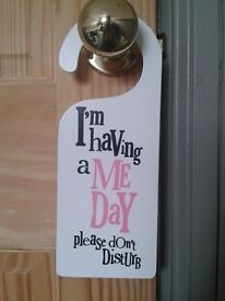 Rachel Bright Wooden Pamper Door Sign