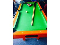 Pool Table 3ft 6ft, good playable condition