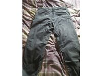 Xdye pull and bear trousers