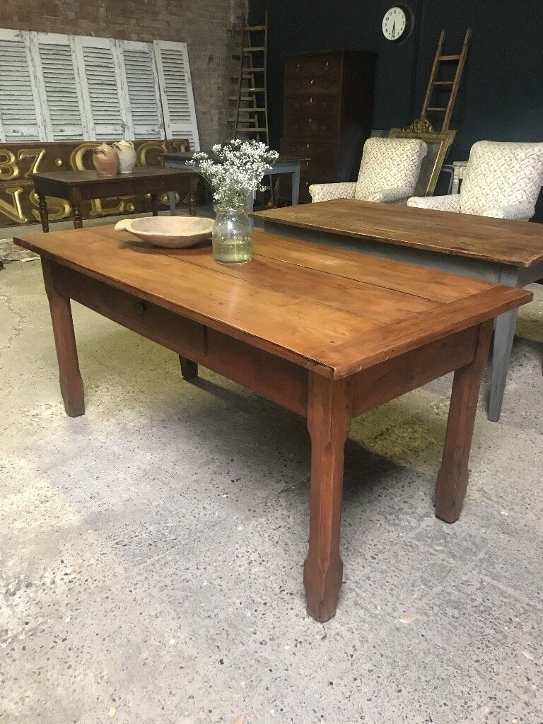 Superb Antique Cherrywood French Kitchen Dining Table