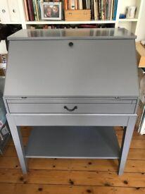 Grey Bureau Desk with fold out table top