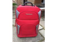 Red trolley suitcase