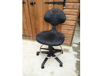 Workshop/ Office Chair, Swivel, Height Adjustable