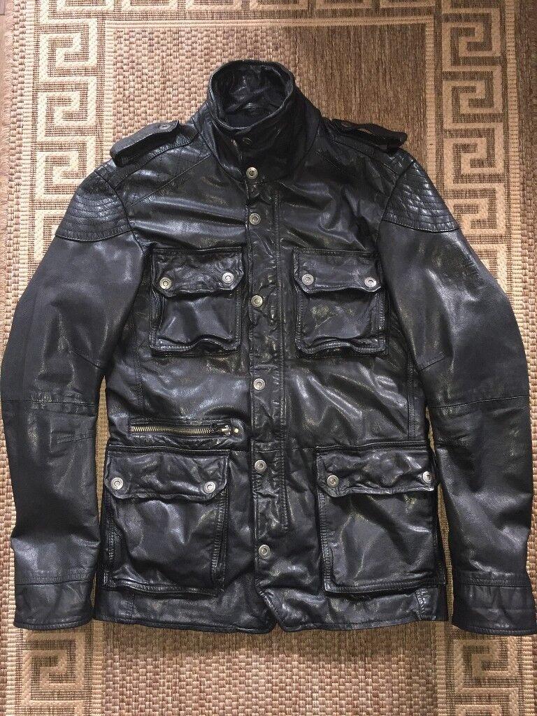 b8039fc52 Firetrap Men Real Leather Jacket Black Size M   in Croydon, London ...
