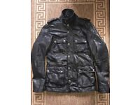 Firetrap Men Real Leather Jacket Black Size M