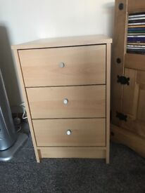 Small 3 drawer Chester drawer