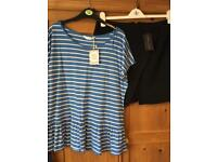 T-shirt & black skirt size 14 new with tags