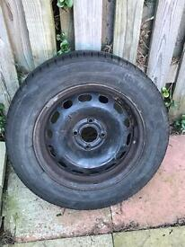 New spare wheel and tyre