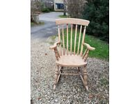 Solid Beech Rocking Chair (used)