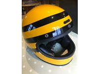 Hedon Epicurist Bumble Bee Motorbike Helmet and Visor.