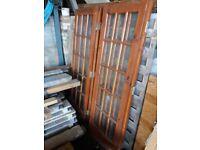 Folding hardwood doors x 2 650mm wide x 1985mm high £30 for job lot of 2 doors
