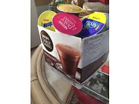 Krups dolce gusto coffee machine and various pods