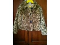 Girls fur coat m&co age 9-10