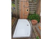 Kudos Full Shower Tray and Curved Sliding doors