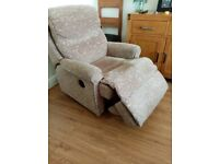 3 piece suite with two automatic reclining chairs