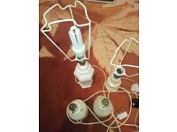 AVAILABLE. Bedside Lights Lamps. 3 Marble and 1 Ceramic Bed side lights Table Lamps