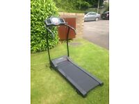 Treadmill with electronic display