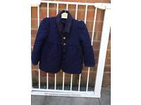 Ralph Lauren Girls Navy Coat