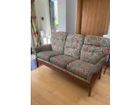 3 seater sofa with removable cushions